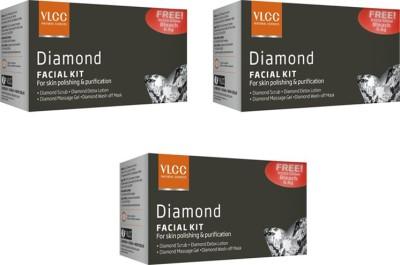 VLCC Diamond Facial Kit Pack of 3 111 g