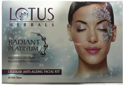 Lotus Radiant Platinum Facial Kit, 37 g