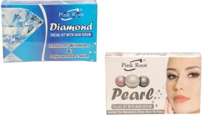 Pink Root Diamond Facial Kit,Pearl Facial Kit 140 g