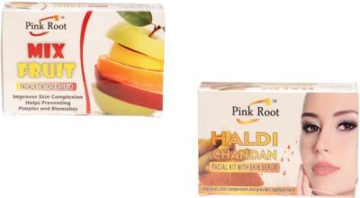 Pink Root Mix Fruit Facial Kit,Haldi Chandan Facial Kit 140 g