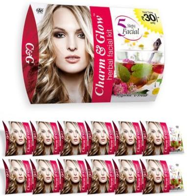Charm & Glow Herbal Facial Kit 324 g