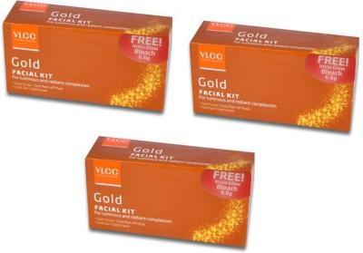 VLCC Gold Facial Kit Pack of 3 140 g