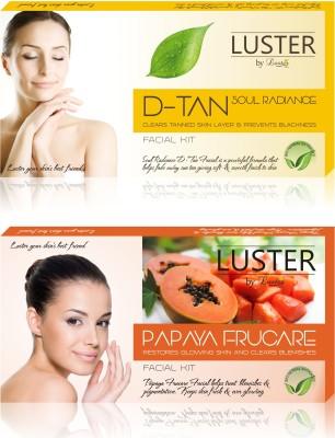 Luster Soul Radiance D-Tan & Papaya Frucare Facial Kit (New Pack) 290 g