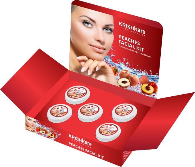 Krishkare Peaches Facial Kit 250 g(Set of 5)