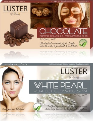 Luster Chocolate & White Pearl Facial Kit (New Pack) 290 g