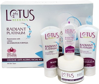 Lotus Radiant Platinum Cellular Anti-Ageing Facial Kit 170 g