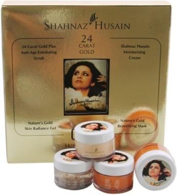 Shahnaz Husain 24 Carat Gold Skin Radiance Kit (10gm * 4) 40 g(Set of 4)