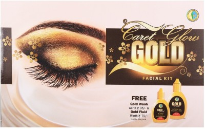 Nandini Herbal Care Nandini Caret Glow Gold Facial Kit, 51g + 42ml 95 g