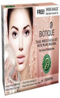 Biotique Pearl White Facial Kit With Pearl Bhasma(set of 4) 180 g