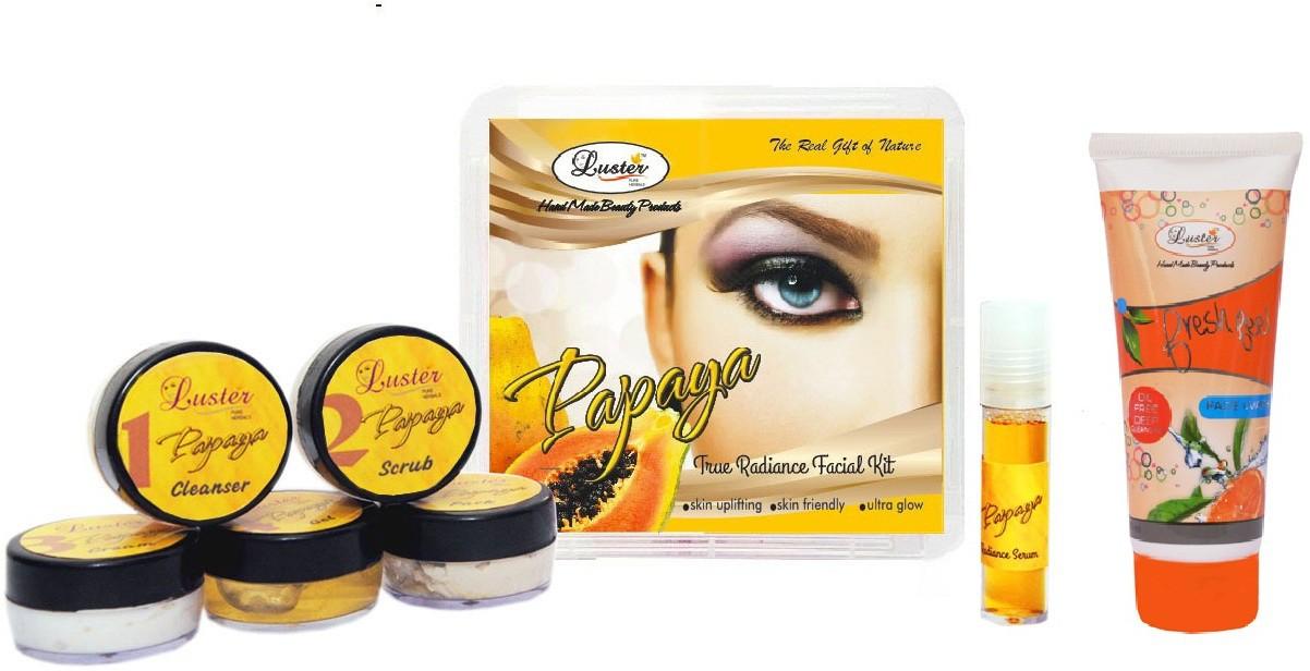 Luster Papaya Facial kit (Anti-Blemish & Dark spot reduction) 150 g(Set of 1)
