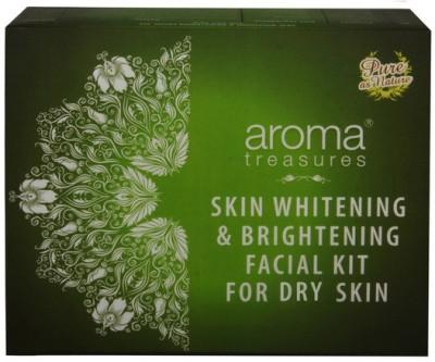 Aroma Treasures Skin Whitening & Brightening Facial Kit for Dry Skin 225 g