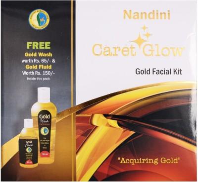 Nandini Herbal Care Caret Glow Gold Facial Kit, 170g + 75ml 250 g