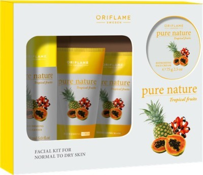 Oriflame Sweden Pure Nature Tropical Fruits Facial Kit 150 ml