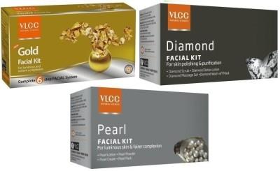 VLCC 3in1 Whitening Kit incudes Diamond, Gold, Pearl Facial kits Herbal & Ayurvedic 36.41 g
