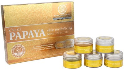 khadi Natural Mini facial Kit Papaya Skin Revitalizing 75 g