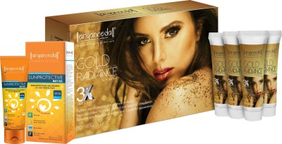 Aryanveda Herbal Gold Radiance 3X Home Spa Kit with SPF-50 175 ml