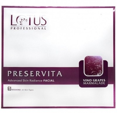 Lotus Preservita Vino Grapes Marmalade Advanced Skin Radiance Facial Kit 80 g