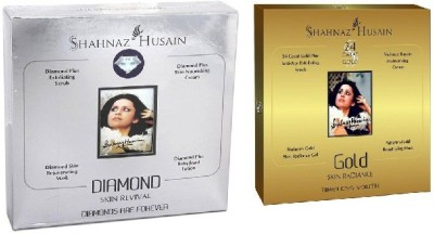 Shahnaz Husain Timeless Diamond & GoldFacial Kit (combo),Excellent For Young Girls 80 g