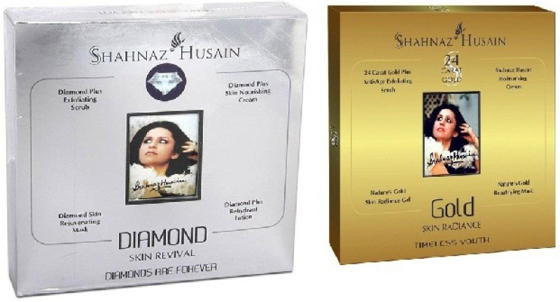 Shahnaz Husain Timeless Diamond & GoldFacial Kit (combo),Excellent For Young...