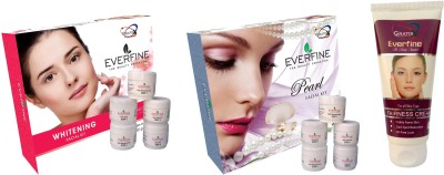 Everfine Whitening & Fruit Facial Kit Pack 2 Get a Fairness Cream 75gm Free 185 g