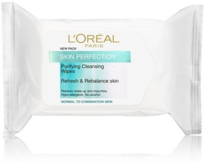 L,Oreal Paris Perfection Cleansing Wipes Normal Skin(Pack of 1)