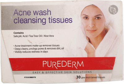 Celebrity Acne Wash Cleansing Tissue