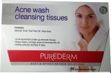 Purederm Acne wash cleansing tissues (Pa...