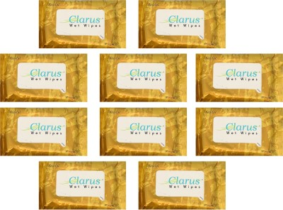 Clarus Wet Wipes Sandal 10 Pulls Pack of 10