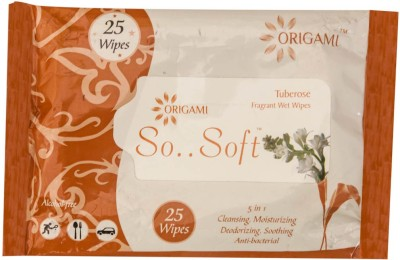 Origami Wet Wipes 5 in1 25 Pulls (5 Flavors)