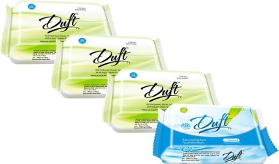 DUFT REJUVENATING AQUA FACIAL and REFRESHING ALOE VERA & CUCUMBER WET WIPESH