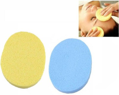 Styler Best Quality Natural seaweed facial cleaning wash pad puff Sponge(Set of 2)