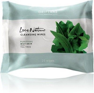 Oriflame Sweden Love Nature Cleansing Wipes Tea Tre