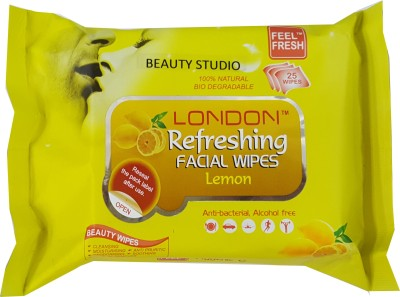 Beauty Studio lemon Refreshing Facial wet wipes(Pack of 1)