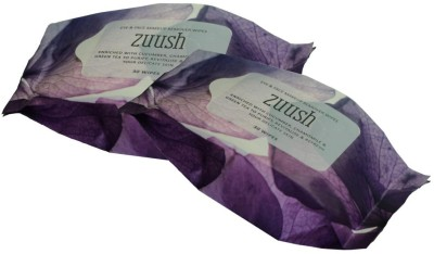 Zuush Eye and Face Makeup Removal Wipes 30s x 2