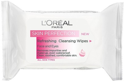 L,Oreal Paris Skin Perfection Cleansing Wipes Dry & Sensitive Skin(Pack of 1)