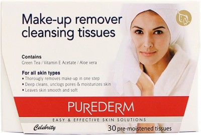 Celebrity Purederm Make-up Remover Cleansing Tissues