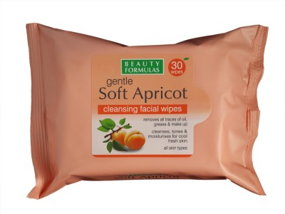 Beauty Formulas Gentle Soft Apricot Clensing Facial Wipes(Pack of 1)
