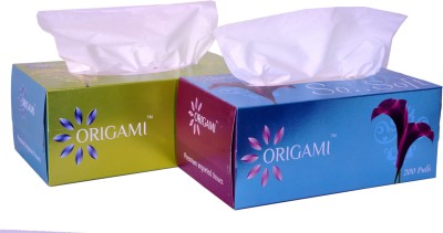 Origami Face Tissues 2 In 1 200 Pulls