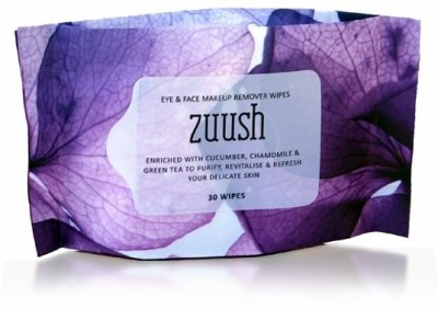 Zuush Eye and Face Makeup Removal Wipes 30s x 1