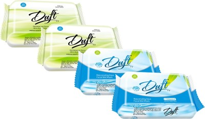 DUFT REJUVENATING AQUA FACIAL and REFRESHING ALOE VERA & CUCUMBER WET WIPES