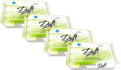 DUFT REFRESHING WET WIPES WITH ALOE VERA & CUCUMBER PACK OF 4 (25 WIPES EACH)(Pack of 4)