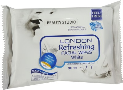 Beauty Studio london white Refreshing Facial wet wipes(Pack of 1)