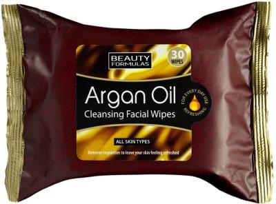 Beauty Formulas Argan Oil Cleansing Facial Wipes