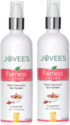 Jovees Fairness Lotion water resistant sun screen Liquorice with UV protection SPF-25