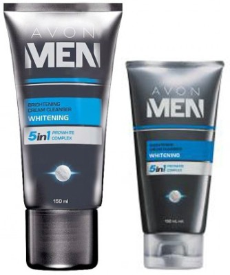 Avon Men 5 in 1 Whitening Cleanser (150 ml) + Cream (50 g)