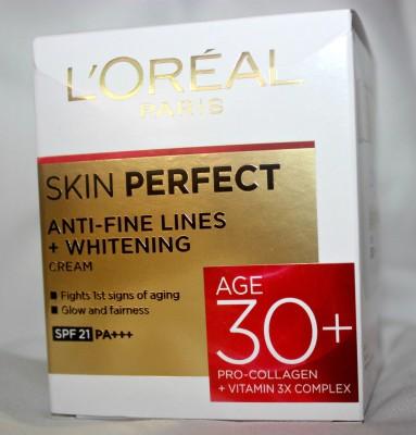 L,Oreal Paris Skin Perfect Anti-Fine Lines + Whitening Cream 30+