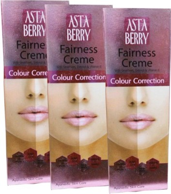 Astaberry Color Correction Fairness Cream-Pack of 3(50 g)