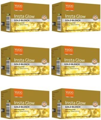 VLCC Insta Glow Gold Bleach Pack Of 6(180 g)