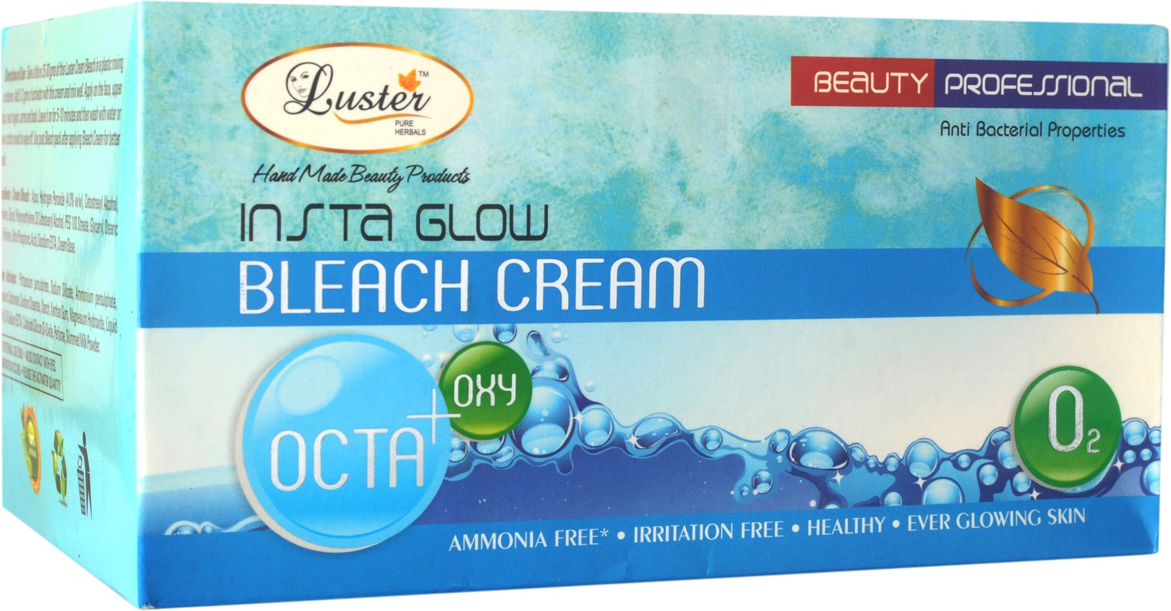 Luster Insta Glow Octa + Oxy Bleach Cream (with Pre Bleach Cream & Post Bleach Pack) Cream(500 ml)