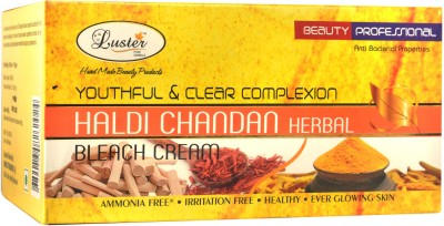 Luster Youthful & Clear Complexion Haldi Chandan Bleach Cream (with Pre Bleach Cream & Post Bleach Pack)